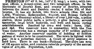The Australian Handbook, 1893, described Preston as -